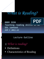 GGGV3224 Lect 1 What is Reading SEM I 2011 2012