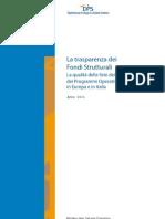 La Trasparenza Dei Fondi Strutturali 2011