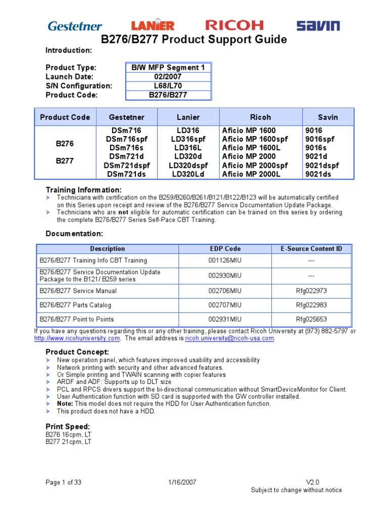B276-B277 psg   Image Scanner   Fax