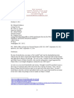 EXPERT NYE LAVALLE'S LETTER TO THE FHFA OFFICE OF INSPECTOR GENERAL- OCTOBER 2011