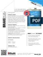 Brake Cleaner 1 Gallon by Rukse Product Sheet