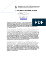Article Quantitative Risk Analysis