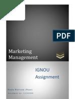 Marketing Management IGNOU