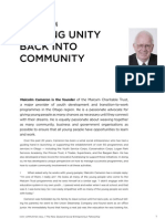 Malcolm Cameron— Putting Unity Back Into Community