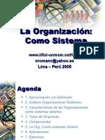 Tema 4 La Organiazcion Como Sistemas Actualizado Abril 2005