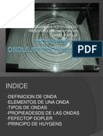 MOVIMIENTO ONDULATORIO(ONDAS)