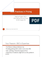 Best Practices in Pricing
