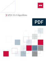 SPSS 15.0 Algorithms