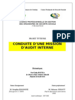 Une Mission d Audit Interne PDF