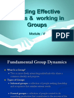 Leading Effective Teams & Working in Groups