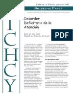 Trastorno Infantil de Hiperactividad y Deficit de AtenciÓn