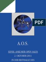 Ankumer Open Sales Pferde-Auktion OS_Katalog_2011