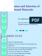 02 Evaluation and Selection of Dental Materials