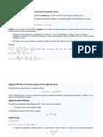 Matématica Equação 1°