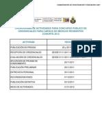 Cronograma y Publicacion Concurso 2012