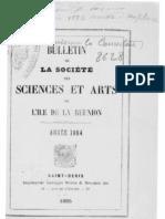 Bulletin de la Société des Sciences et des Arts de l'Île de la Réunion, 1884