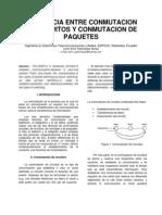 Diferencia Entre Conmutacion de Circuitos y Conmutacion de Paquetes