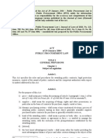 Public Procurement Law Consolidated Text