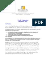 2011-10-31 Horizon Commentary