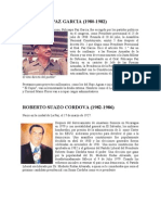 Presidentes de Honduras - Resumen