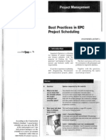best practices in epc project scheduling