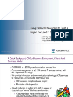 Using Balanced Scorecard to Build a Project Focused IT Organization