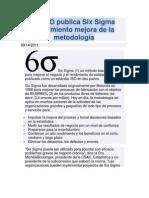 La ISO publica Six Sigma rendimiento mejora de la metodología