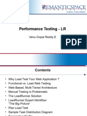 Performance Testing PPT | C (Programming Language) | World