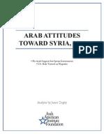 Arab Attitudes Toward Syria