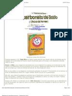 Bicarbonato de Sodio (Polvo de Hornear) - Tratamiento de Cáncer