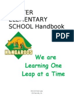 critter elementary school 2008-09 handbook