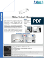 Aztech WL552USB OEM DataSheet