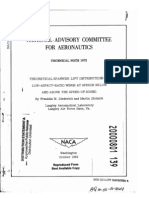 NACA TN 1973 - Theoretical Spanwise Lift Distributions for Low Aspect Ratio Wings