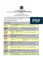 Edital Alteracao Cronograma Vestibular 2012