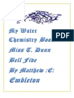 My Water Chemistry Book