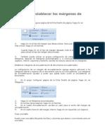 Cambiar o establecer los márgenes de página