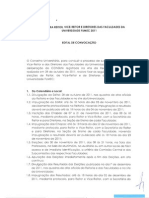 Edital Eleicoes Reitor Vice-Reitor e Diretores
