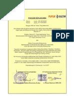 Piagam Kerjasama UNMUL dengan PT. Pupuk Kalimantan Timur (PKT)