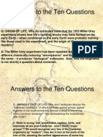 Answers to the Ten Questions of Evolution