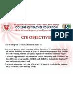 CTE General Objectives