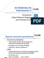 Clase 3 - Persist en CIA, Object Relational Mapping, Java Persistence API