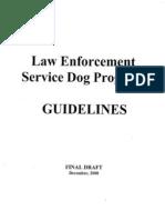 draft 2000 k-9 guidelines