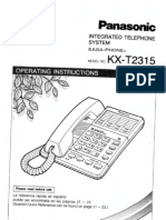 Panasonic KX-T2315 Operating Instructions