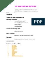 Base de Datos Excel en Word