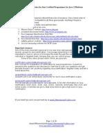 Java Cert Study Notes