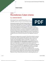 Revolutionary Cuban Cinema by Julianne Burton