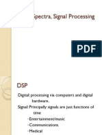 Signal Spectra, Signal Processing