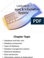 Lecture 5 Information System and Databases