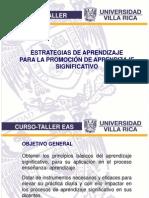 Diapositivas Taller Est de Aprendizaje Para La Prom. Del Aprendizaje Significativo 2010