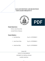 wireless data encryption and decryption using radio frequence (FINAL YEAR PROJECT OF ELECTRICAL ENGINEERING)